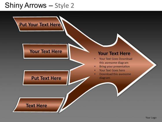 PowerPoint Slide Business Success Shiny Arrows 2 Ppt Designs