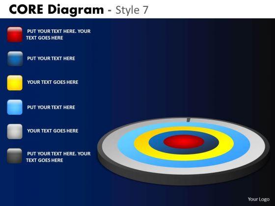 PowerPoint Slide Business Success Targets Core Diagram Ppt Process