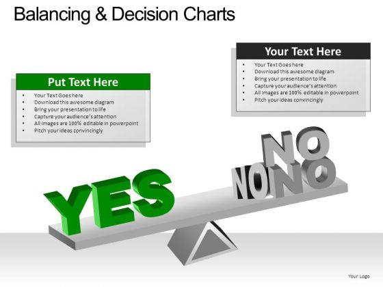 PowerPoint Slide Chart Balancing Decision Ppt Slide