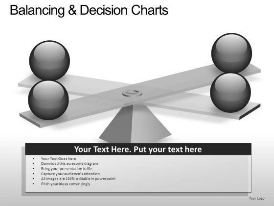 PowerPoint Slide Chart Balancing Decision Ppt Theme