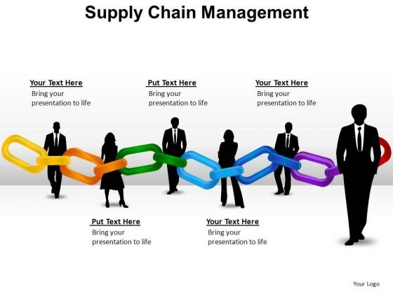 PowerPoint Slide Chart Chain Management Ppt Theme