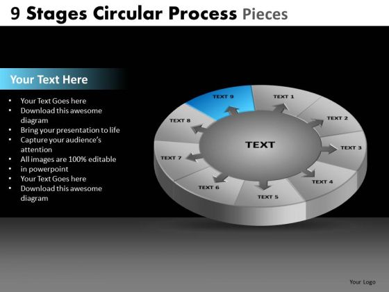 PowerPoint Slide Chart Circular Process Ppt Slide