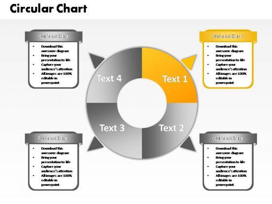 PowerPoint Slide Chart Four Circular Ppt Template