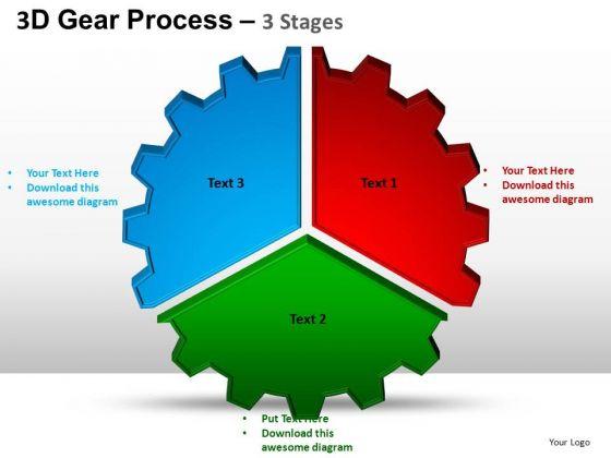 PowerPoint Slide Chart Gear Process Ppt Design