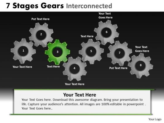 PowerPoint Slide Chart Gears Ppt Theme