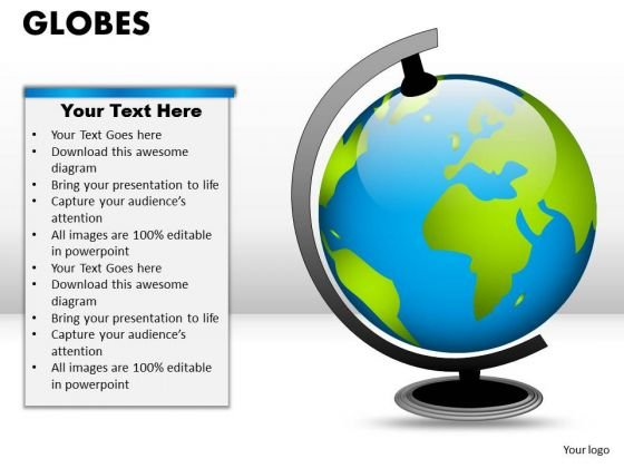 PowerPoint Slide Chart Globes Ppt Presentation