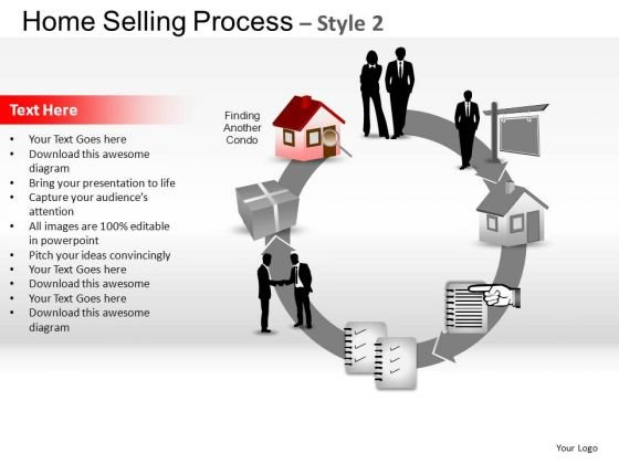 PowerPoint Slide Chart Home Selling Ppt Template