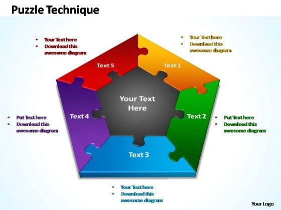 PowerPoint Slide Chart Puzzle Technique Ppt Design