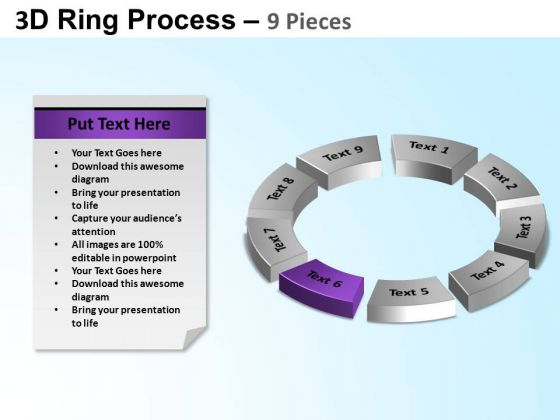 PowerPoint Slide Circle Chart Ring Process Ppt Design