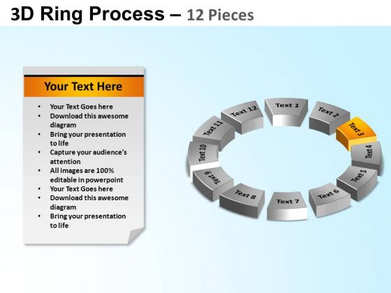 PowerPoint Slide Circle Chart Ring Process Ppt Slide