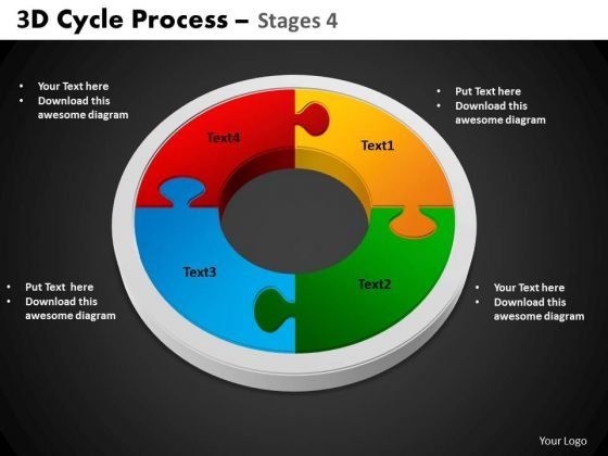 PowerPoint Slide Circle Process Cycle Process Ppt Slides