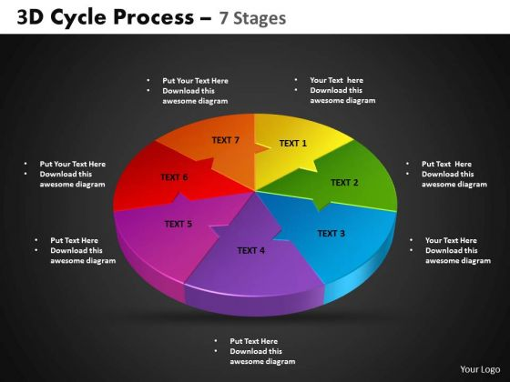 PowerPoint Slide Circle Process Cycle Process Ppt Themes