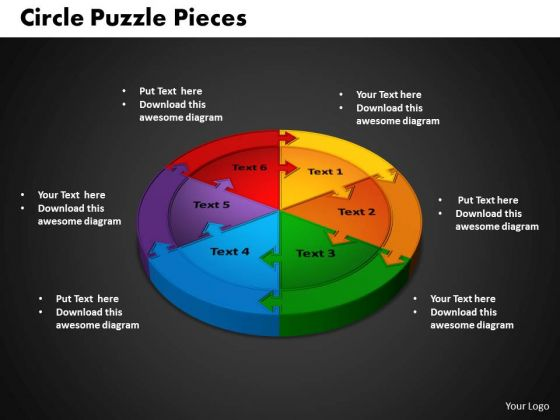 PowerPoint Slide Circle Puzzle Company Ppt Backgrounds