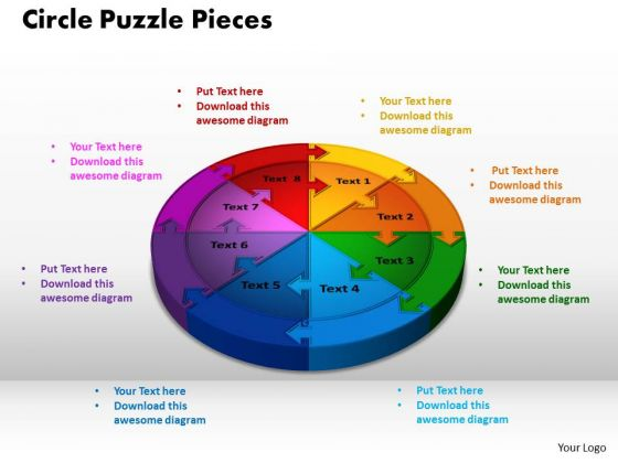PowerPoint Slide Circle Puzzle Sales Ppt Presentation