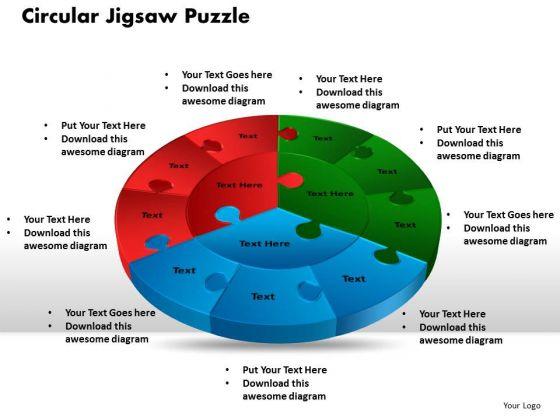 PowerPoint Slide Circular Jigsaw Puzzle Graphic Ppt Theme - Jigsaw graphic for powerpoint