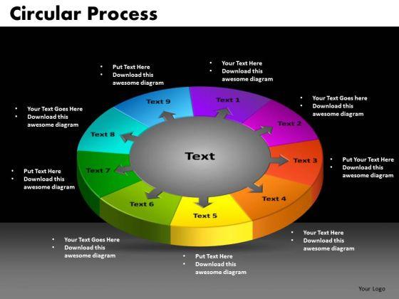PowerPoint Slide Circular Process Teamwork Ppt Design