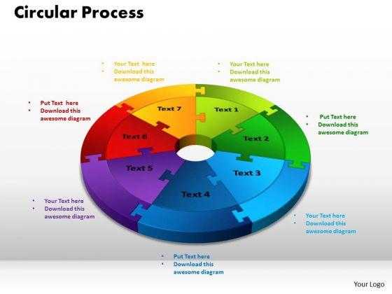 PowerPoint Slide Circular Process Teamwork Ppt Design Slides