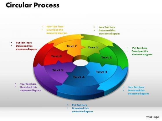 PowerPoint Slide Circular Process Teamwork Ppt Theme