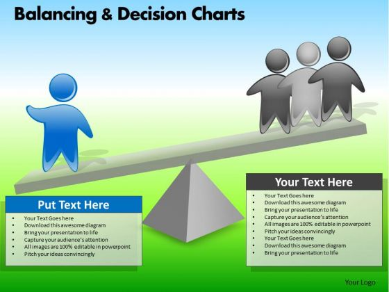 PowerPoint Slide Company Designs Balancing Decision Charts Ppt Process