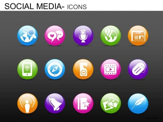PowerPoint Slide Company Designs Social Media Icons Ppt Design Slides