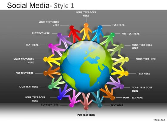 PowerPoint Slide Company Designs Social Media Ppt Layout