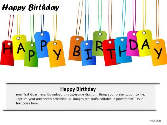 PowerPoint Slide Company Happy Birthday Ppt Slides