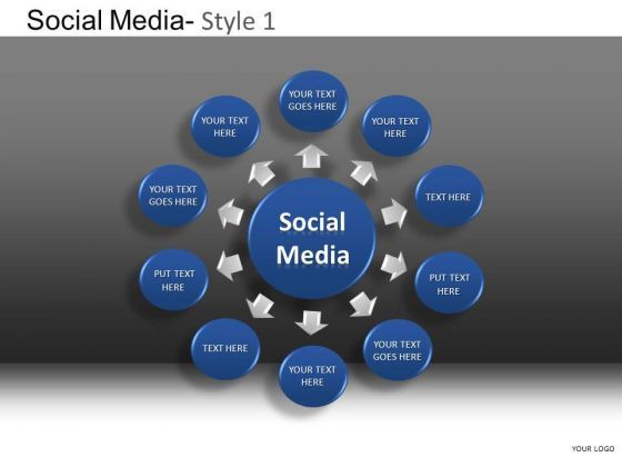 PowerPoint Slide Company Leadership Social Media Ppt Slide Designs