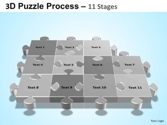 PowerPoint Slide Company Puzzle Process Ppt Slide Designs