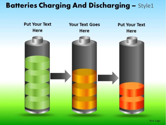 PowerPoint Slide Company Strategy Batteries Charging Ppt Design