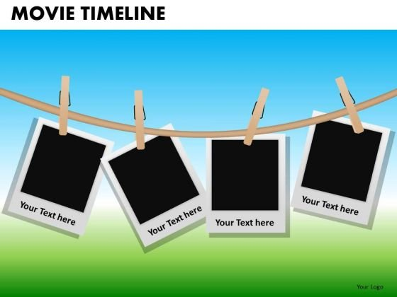 PowerPoint Slide Company Teamwork Movie Timeline Ppt Slide