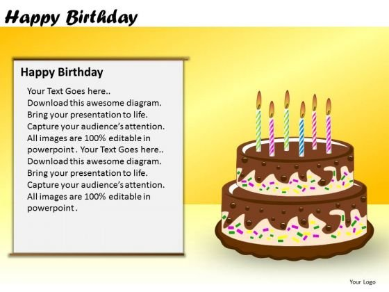 PowerPoint Slide Corporate Designs Happy Birthday Ppt Presentation