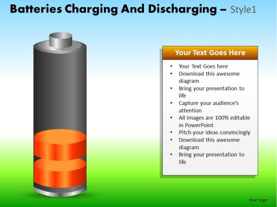 PowerPoint Slide Corporate Success Batteries Charging Ppt Presentation