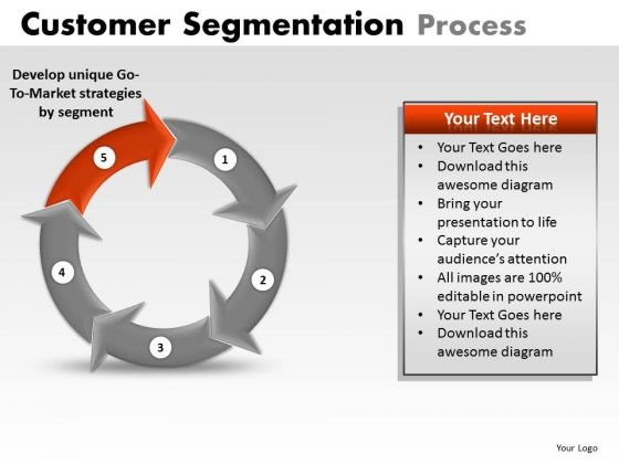 PowerPoint Slide Corporate Success Customer Segmentation Process Ppt Template
