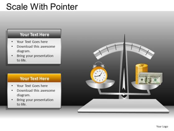 PowerPoint Slide Corporate Success Scale With Pointer Ppt Templates