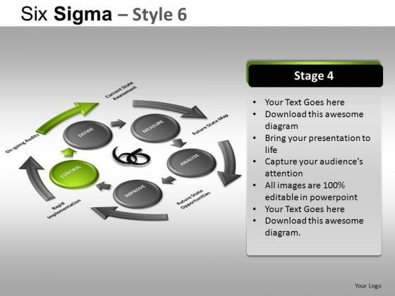 PowerPoint Slide Corporate Success Six Sigma Ppt Design