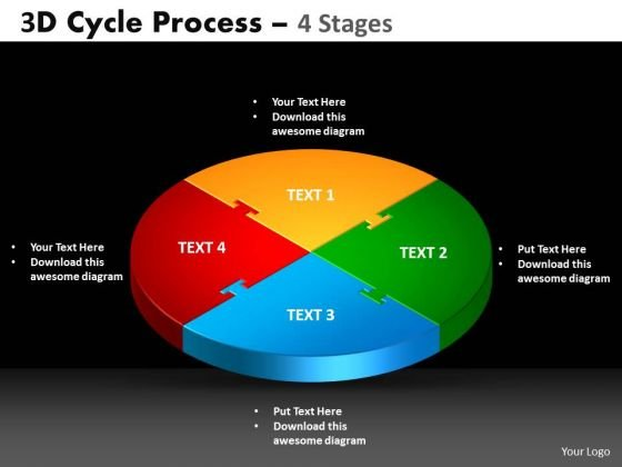 PowerPoint Slide Cycle Chart Cycle Process Ppt Theme
