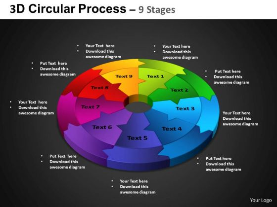 PowerPoint Slide Cycle Process Circular Process Ppt Design