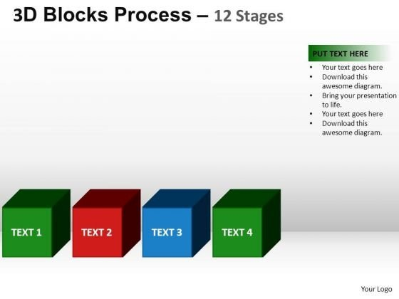 PowerPoint Slide Designs Business Blocks Process Ppt Presentation