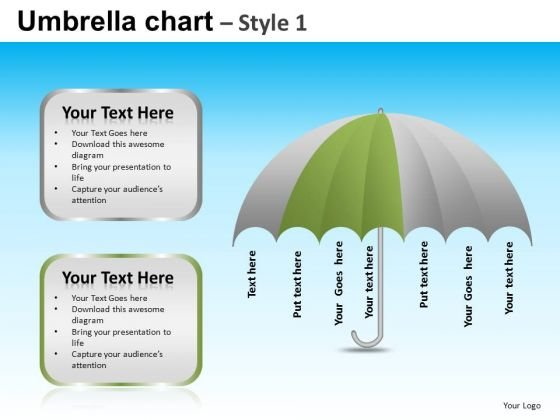 PowerPoint Slide Designs Business Competition Umbrella Chart Ppt Presentation Designs