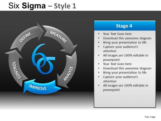 PowerPoint Slide Designs Business Education Six Sigma Ppt Process