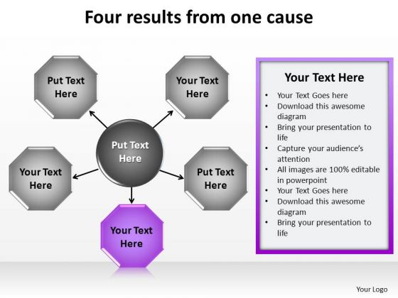 PowerPoint Slide Designs Business Four Results Ppt Designs