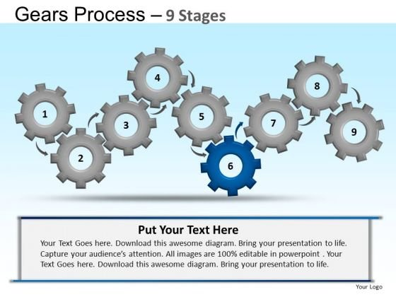 PowerPoint Slide Designs Business Gears Ppt Slides