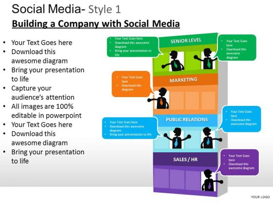 PowerPoint Slide Designs Business Teamwork Social Media Ppt Presentation