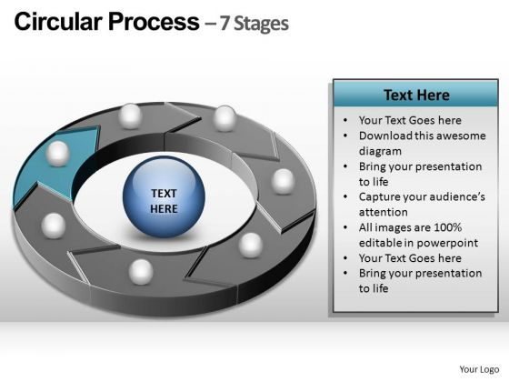 PowerPoint Slide Designs Chart Circular Process Ppt Template