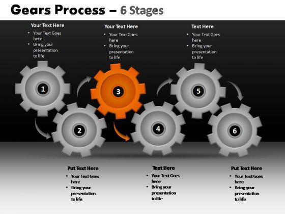 PowerPoint Slide Designs Chart Gears Process Ppt Design Slides