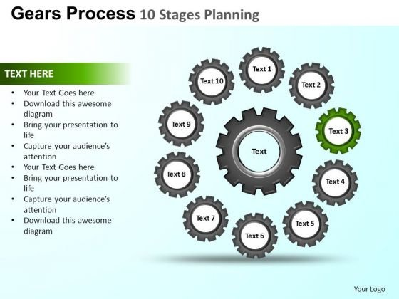 PowerPoint Slide Designs Chart Gears Process Ppt Slide