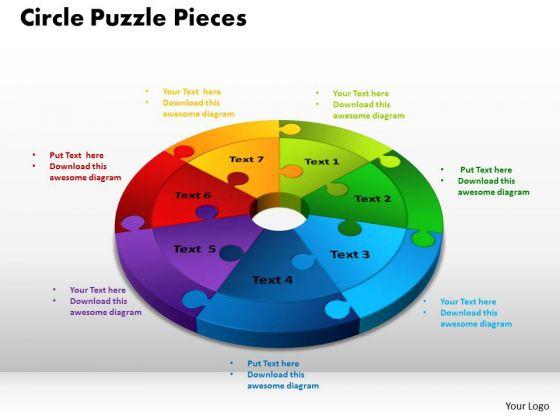 PowerPoint Slide Designs Circle Puzzle Pieces Ppt Theme