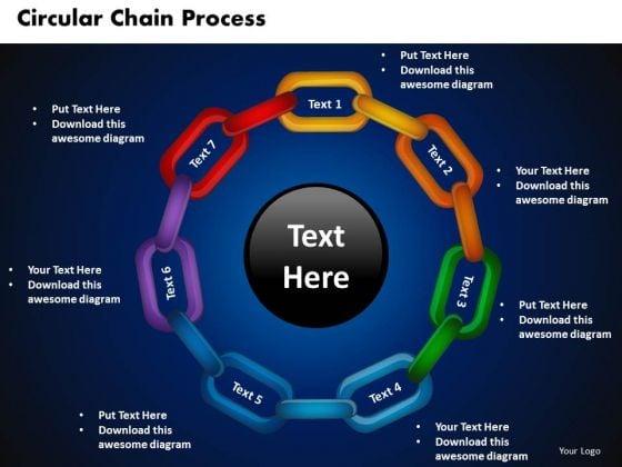 PowerPoint Slide Designs Circular Chain Flowchart Process