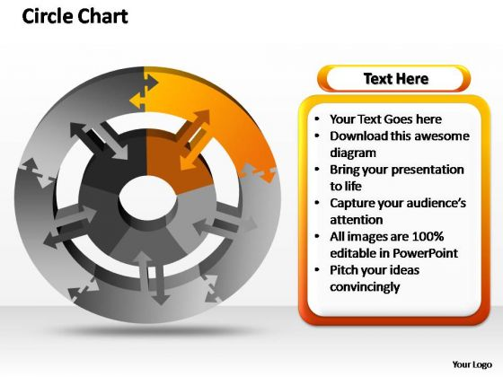PowerPoint Slide Designs Company Circle Chart Ppt Template