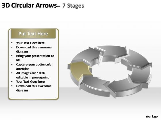 PowerPoint Slide Designs Company Circular Arrows Ppt Presentation